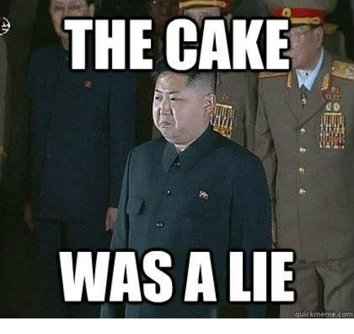 The Cake Was A Lie