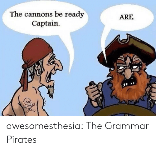 grammar: The cannons be ready  Captain  ARE awesomesthesia:  The Grammar Pirates
