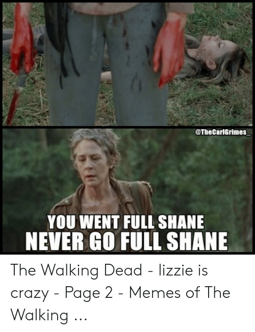 Full Shane: @The CarlGrimes  YOU WENT FULL SHANE  NEVER GO FULL SHANE The Walking Dead - lizzie is crazy - Page 2 - Memes of The Walking ...