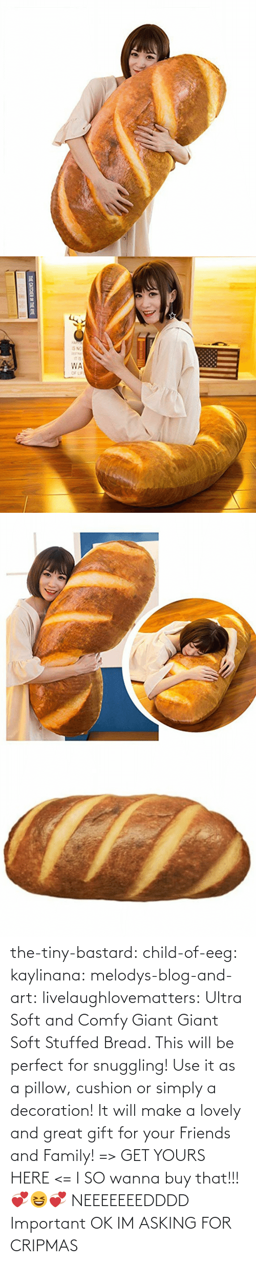 stuffed: THE CATCHER IN THE RYE the-tiny-bastard:  child-of-eeg:  kaylinana: melodys-blog-and-art:  livelaughlovematters:  Ultra Soft and Comfy Giant Giant Soft Stuffed Bread. This will be perfect for snuggling! Use it as a pillow, cushion or simply a decoration! It will make a lovely and great gift for your Friends and Family! => GET YOURS HERE <=   I SO wanna buy that!!! 💞😆💞   NEEEEEEEDDDD   Important  OK IM ASKING FOR CRIPMAS