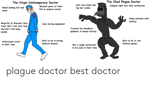 The Chad Plague Doctor the Virgin Contemporary Doctor Cool