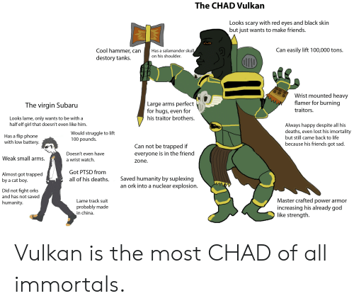 The CHAD Vulkan Looks Scary With Red Eyes and Black Skin but Iust