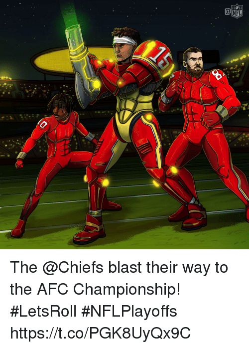 Afc Championship: The @Chiefs blast their way to the AFC Championship! #LetsRoll  #NFLPlayoffs https://t.co/PGK8UyQx9C