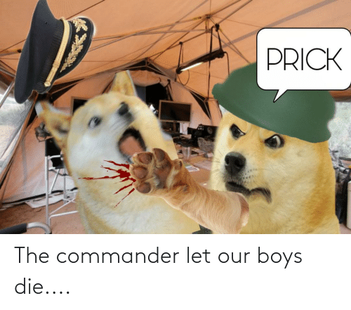 the commander: The commander let our boys die....
