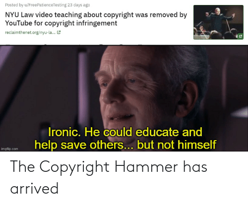 hammer: The Copyright Hammer has arrived