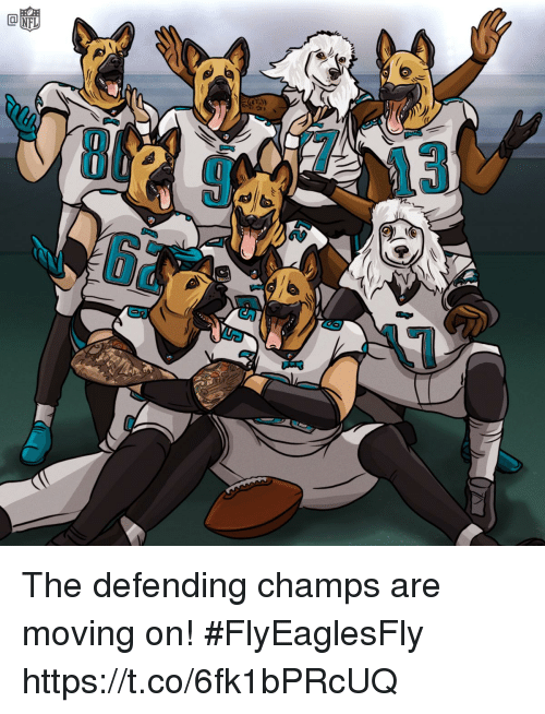 champs: The defending champs are moving on! #FlyEaglesFly https://t.co/6fk1bPRcUQ