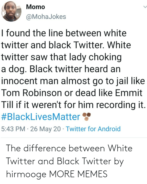 Difference Between: The difference between White Twitter and Black Twitter by hirmooge MORE MEMES