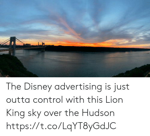 hudson: The Disney advertising is just outta control with this Lion King sky over the Hudson https://t.co/LqYT8yGdJC