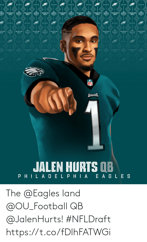 Land: The @Eagles land @OU_Football QB @JalenHurts! #NFLDraft https://t.co/fDlhFATWGi