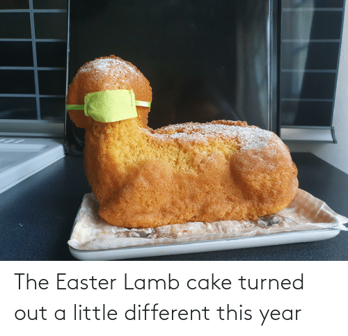 lamb: The Easter Lamb cake turned out a little different this year
