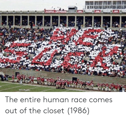 Race, Human, and Human Race: The entire human race comes out of the closet (1986)