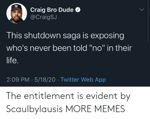 evident: The entitlement is evident by Scaulbylausis MORE MEMES