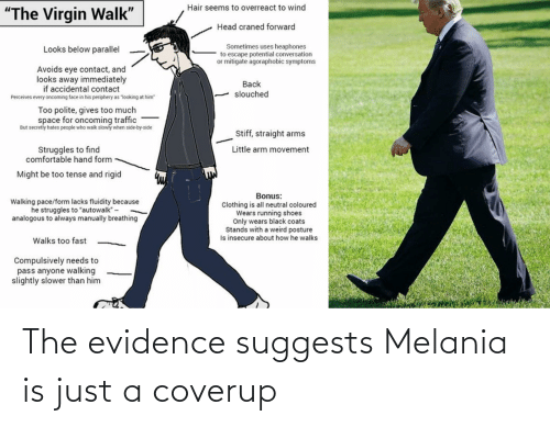 Melania: The evidence suggests Melania is just a coverup