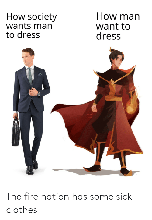 Clothes: The fire nation has some sick clothes