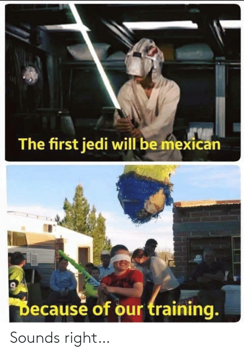 training: The first jedi will be mexican  Decause of our training. Sounds right…