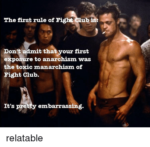 how does fight club represent an The social setting that serves as the backdrop for fight club is one in which traditional notions of masculinity are being slowly eviscerated the social context in which the narrator lives is one.