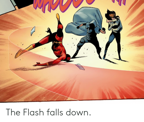 The Flash: The Flash falls down.
