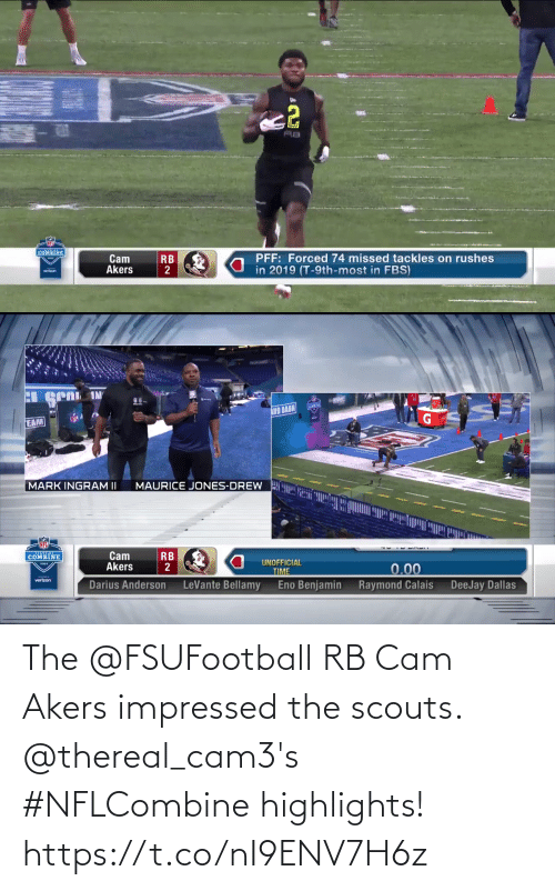 Thereal: The @FSUFootball RB Cam Akers impressed the scouts.   @thereal_cam3's #NFLCombine highlights! https://t.co/nI9ENV7H6z