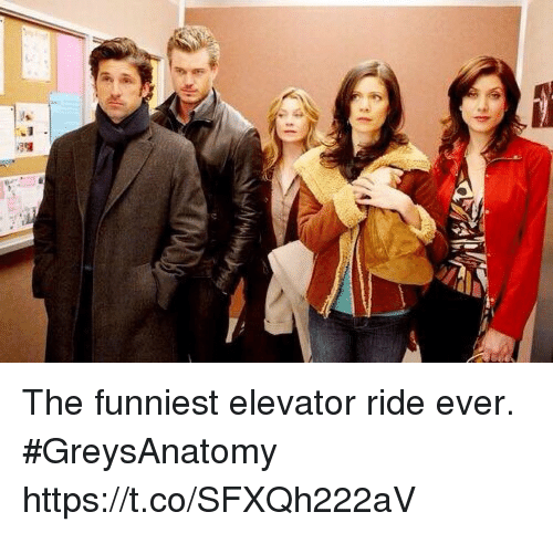 Memes, 🤖, and Greysanatomy: The funniest elevator ride ever. #GreysAnatomy https://t.co/SFXQh222aV
