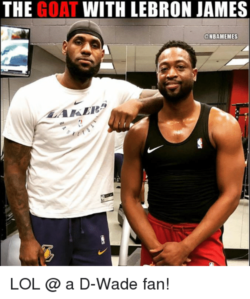 LeBron James, Lol, and Nba: THE GOAT WITH LEBRON JAMES  @NBAMEMES LOL @ a D-Wade fan!