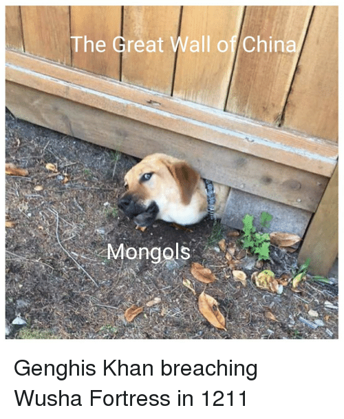 the-great-wall: The Great Wall of China Genghis Khan breaching Wusha Fortress in 1211