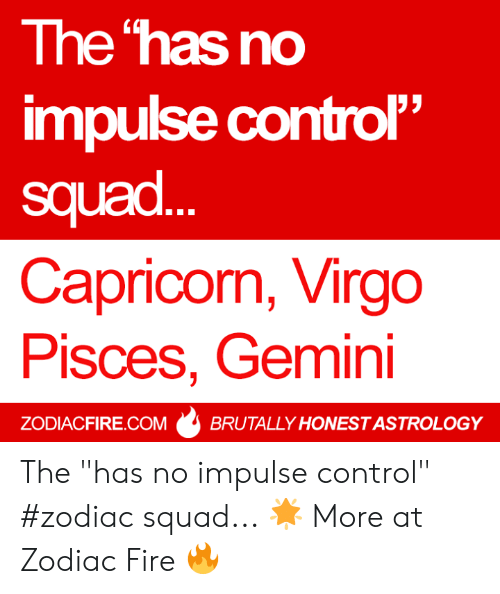 The Has No Impulse Control Squad Capricorn Virgo Pisces Gemini