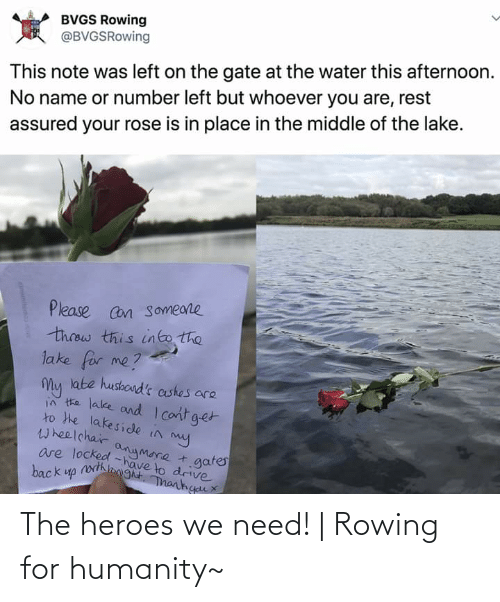 Rowing: The heroes we need! | Rowing for humanity~
