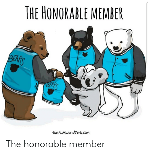 honorable: THE HONORABLE MEMBER  BEARS  BEARS  theAukwardYeti.com The honorable member