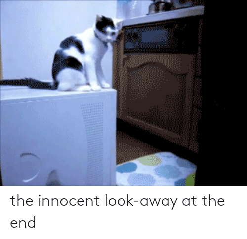 innocent: the innocent look-away at the end