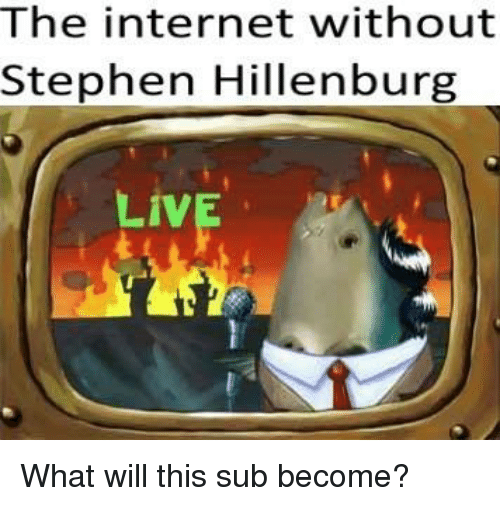 Internet, Stephen, and The Internet: The internet without  Stephen Hillenburg  Liv What will this sub become?