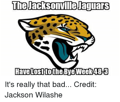 Bye Week: The Jacksonmilelaguars  Have lost to the Bye Week 48-3 It's really that bad...  Credit:  Jackson Wilashe