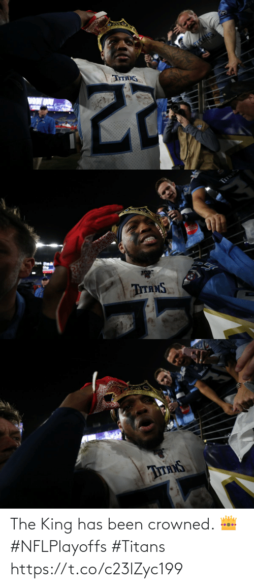 The King: The King has been crowned. 👑 #NFLPlayoffs #Titans https://t.co/c23lZyc199