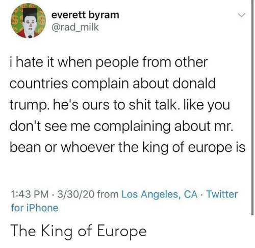 The King: The King of Europe