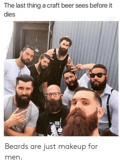 Beer, Makeup, and Beards: The last thing a craft beer sees before it  dies  153 Beards are just makeup for men.