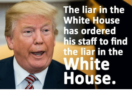 White House, House, and White: The liar in the  White House  has ordered  his staff to find  he liar in the  White  House.