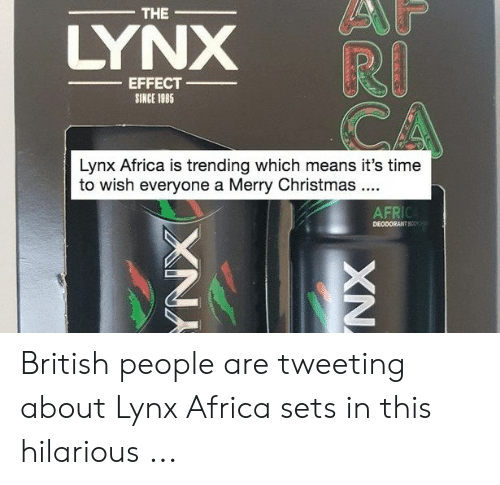 The LYNX RI CA EFFECT SINCE 1985 Lynx Africa Is Trending Which Means