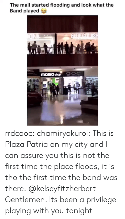 Tumblr, Blog, and Time: The mall started flooding and look what the  Band played  BrDLCo SH  ONL  MOBO shop 900 rrdcooc:  chamiryokuroi: This is Plaza Patria on my city and I can assure you this is not the first time the place floods, it is tho the first time the band was there. @kelseyfitzherbert  Gentlemen. Its been a privilege playing with you tonight
