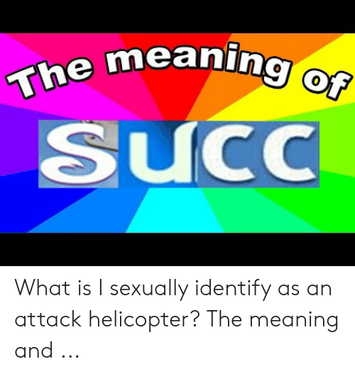 The Meaning of SUCcC What Is I Sexually Identify as an