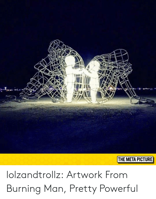 Tumblr, Blog, and Http: THE META PICTURE lolzandtrollz:  Artwork From Burning Man, Pretty Powerful
