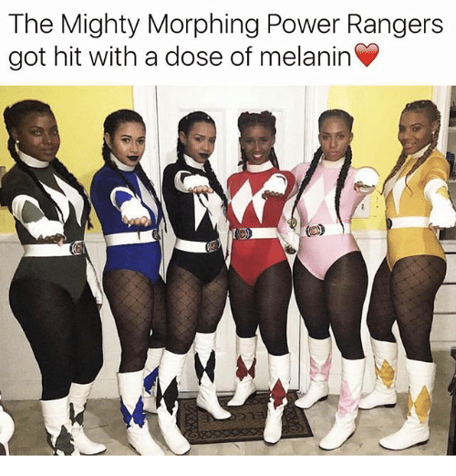 Morphing: The Mighty Morphing Power Rangers  got hit with a dose of melanin