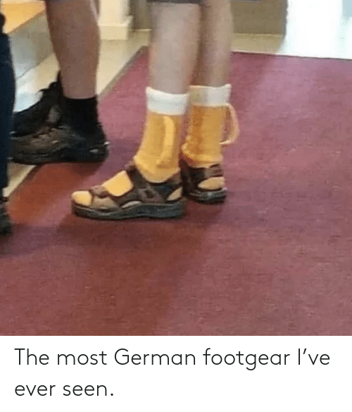 german: The most German footgear I've ever seen.