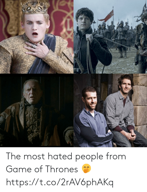thrones: The most hated people from Game of Thrones 🤭 https://t.co/2rAV6phAKq