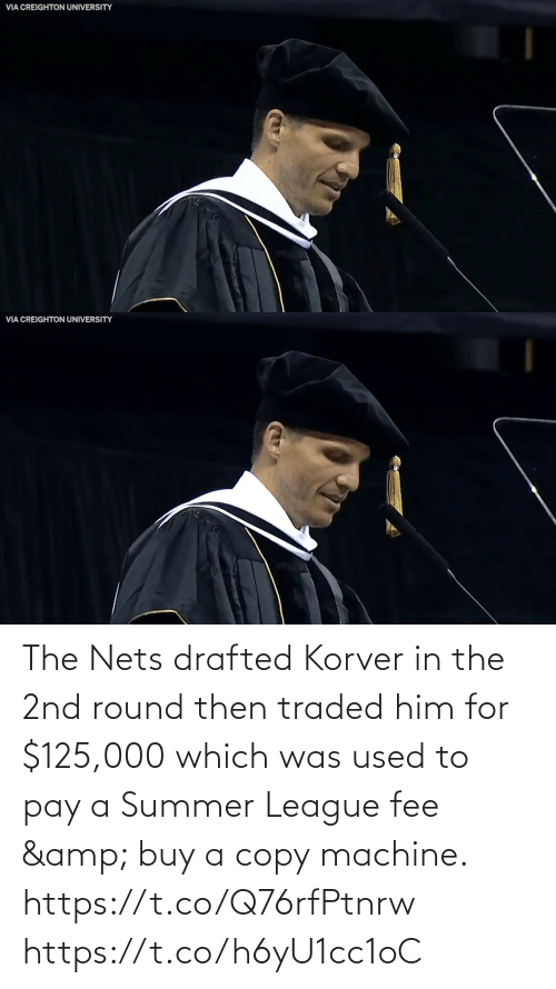 Nets: The Nets drafted Korver in the 2nd round then traded him for $125,000 which was used to pay a Summer League fee & buy a copy machine.   https://t.co/Q76rfPtnrw https://t.co/h6yU1cc1oC
