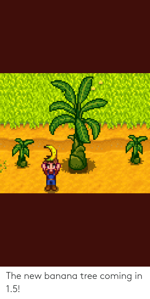 Coming In: The new banana tree coming in 1.5!