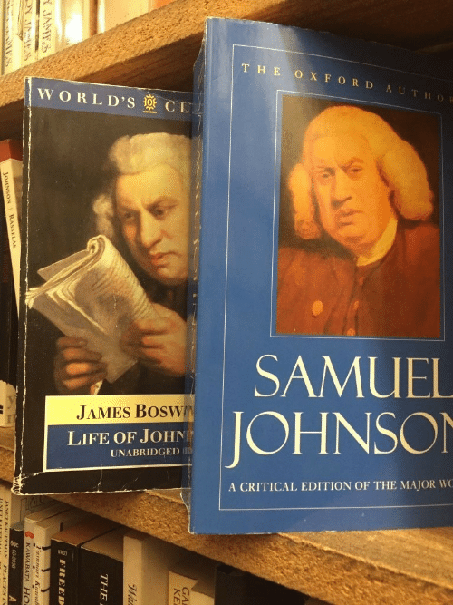 Johnson: THE O XFORD AUTHOR  WORLD'S CL  SAMUEL  JAMES BOSWN  JOHNSON  LIFE OF JOHN  UNABRIDGED UD  A CRITICAL EDITION OF THE MAJOR WC  GA  KE  THE  FREED  A JAMTS  KAWARATA H