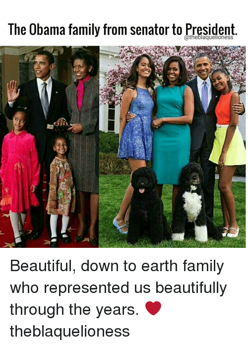 Senations: The Obama family from Senator to hresident Beautiful, down to earth family who represented us beautifully through the years. ❤ theblaquelioness