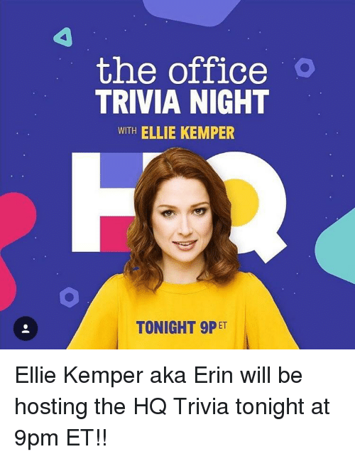 The Office O TRIVIA NIGHT WITH ELLIE KEMPER TONIGHT 9P ET | the