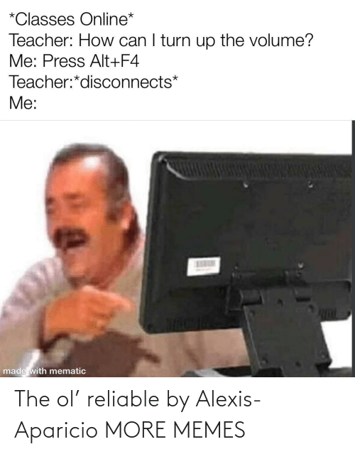 reliable: The ol' reliable by Alexis-Aparicio MORE MEMES