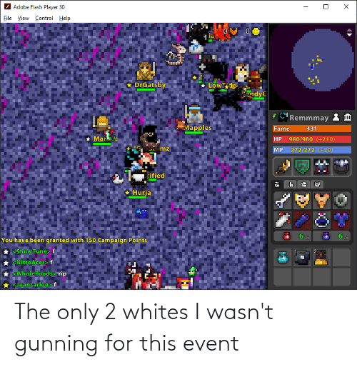 event: The only 2 whites I wasn't gunning for this event