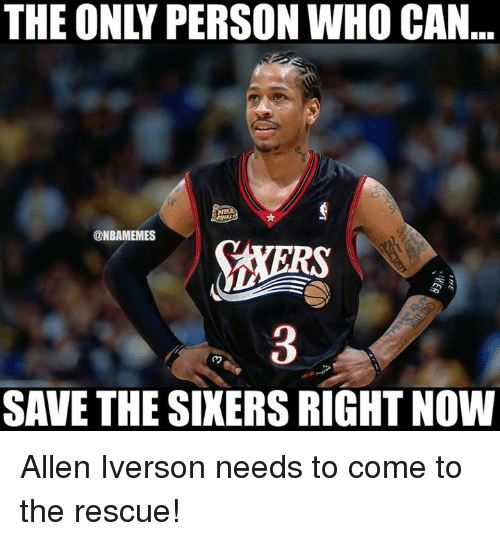 Allen Iverson, Nba, and Iverson: THE ONLY PERSON WHO CAN  NB  @NBAMEMES  RS  3  SAVE THE SINERS RIGHT NOW Allen Iverson needs to come to the rescue!